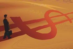 De weg van de dollar Royalty-vrije Stock Foto