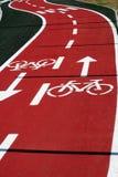 De weg van de fiets royalty-vrije stock afbeeldingen