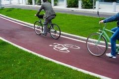 De weg van de fiets Stock Foto