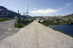 De weg van de Gotthardpas, Ticino, Zwitserland Stock Afbeelding