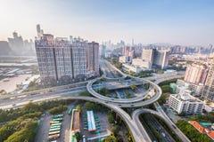 De weg van de Guangzhouuitwisseling Stock Fotografie