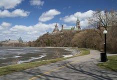De Weg van de Heuvel van het Parlement stock fotografie