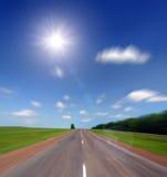 De weg van de hoge snelheid aan zon Stock Afbeelding