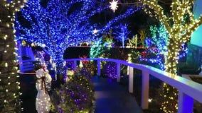 De Weg van de Kerstmisvakantie stock videobeelden