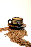 De weg van de koffie Stock Fotografie