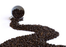 De weg van de koffie Stock Afbeelding