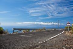 De weg van de kust Royalty-vrije Stock Foto's