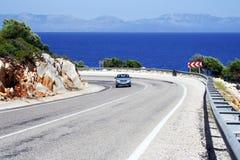 De weg van de kustlijn Royalty-vrije Stock Fotografie