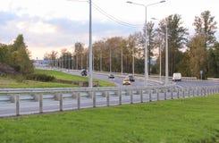 De weg van de luchthaven Pushkin Stock Afbeelding
