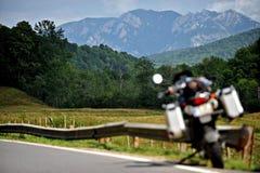 De Weg van de motorfietsberg Stock Fotografie