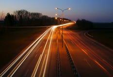De weg van de nacht Stock Fotografie