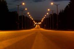 De weg van de nacht Royalty-vrije Stock Foto