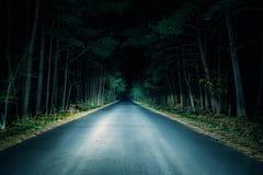 De weg van de nacht Stock Afbeelding