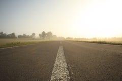 De weg van de ochtend Stock Foto
