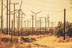 De Weg van de Palm Springswoestijn Stock Afbeelding