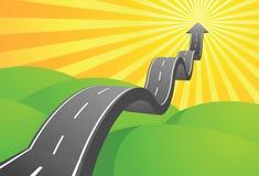 De Weg van de pijl aan Hemel vector illustratie