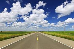 De weg van de prairie Stock Foto's