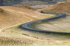 De weg van de ring, IJsland Stock Fotografie