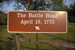 De weg van de Slag royalty-vrije stock fotografie