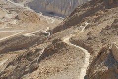 De weg van de slang van Masada Royalty-vrije Stock Foto's
