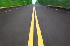 De weg van de snelheid Stock Foto