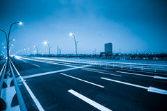 De weg van de stad Royalty-vrije Stock Afbeeldingen