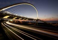 De weg van de stad bij nacht Royalty-vrije Stock Fotografie
