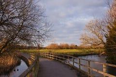 De weg van de stad in Salisbury stock foto