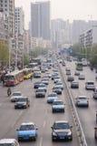 De weg van de stad in Wuhan Stock Foto's