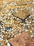 De weg van de steen in de tuin Stock Afbeeldingen