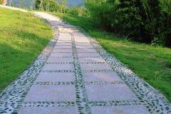 De weg van de steen en Trap Stock Foto's
