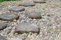 De Weg van de Steen van de tuin royalty-vrije stock afbeelding