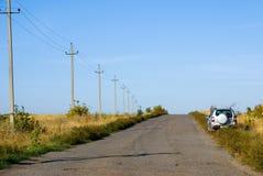 De weg van de steppe Stock Afbeelding