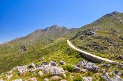 De weg van de Swartbergpas - Weinig Karoo, Zuid-Afrika Stock Afbeelding