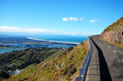 De weg van de top dichtbij Christchurch Royalty-vrije Stock Afbeeldingen