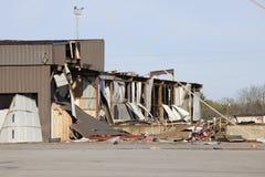 De weg van de tornado Stock Foto's