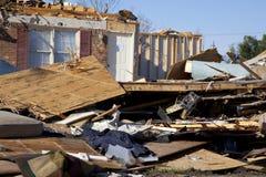 De weg van de tornado Stock Afbeeldingen