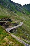 De weg van de Transfagarasanberg, de Roemeense Karpaten Stock Fotografie