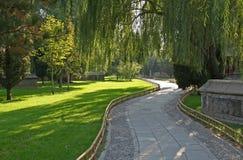 De weg van de tuin royalty-vrije stock afbeeldingen