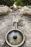 De weg van de tuin in Alhambra, Spanje royalty-vrije stock fotografie