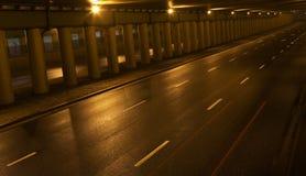 De weg van de tunnel Stock Foto's