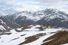 De weg van de wandeling in de Julian alpen Stock Foto