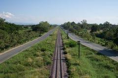 De weg van de wegring van Chiang Mai-stad Royalty-vrije Stock Afbeeldingen