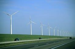 De Weg van de windmolen Stock Foto's