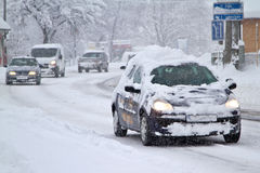 De weg van de winter Stock Fotografie