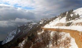 De weg van de winter op ah-Petri Royalty-vrije Stock Fotografie