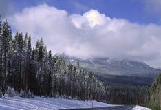 De weg van de winter in Oregon Royalty-vrije Stock Afbeelding