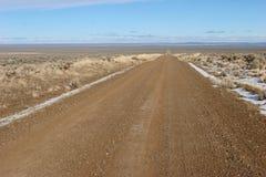 Woestijnweg stock afbeelding