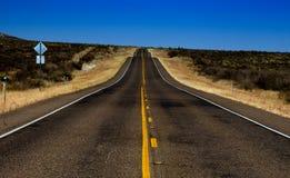 De weg van de woestijn Royalty-vrije Stock Afbeelding