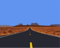 De weg van de woestijn. Royalty-vrije Stock Fotografie